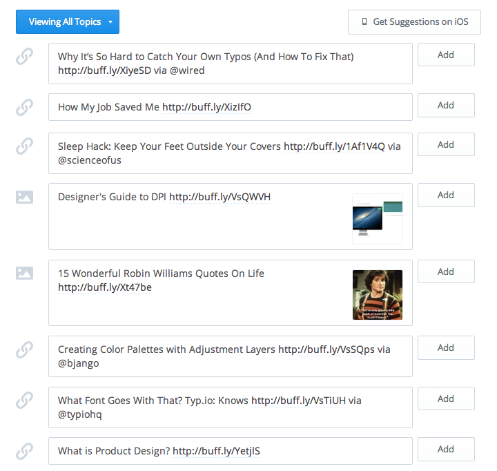 Buffer's Content Suggestions: From Lean Experiment to 20,000 Shares a Day