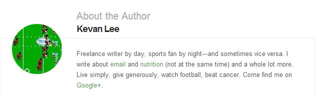 author bio on Buffer blog
