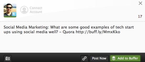 Buffer Quora Posting