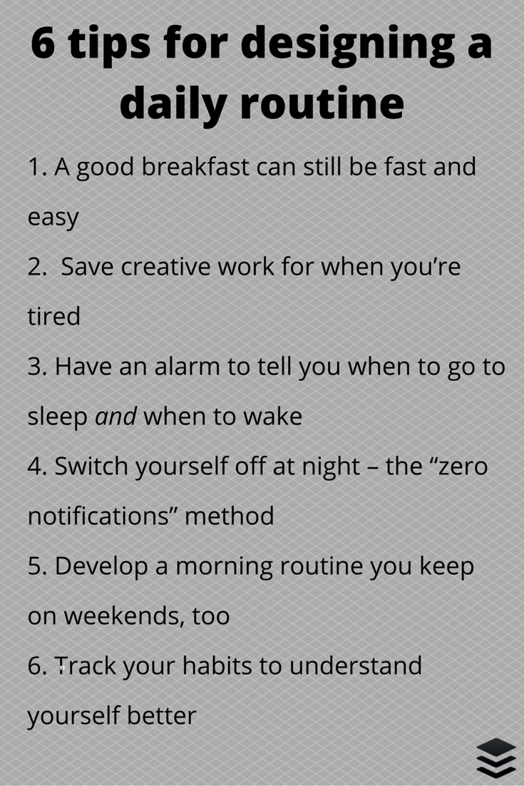 design a routine