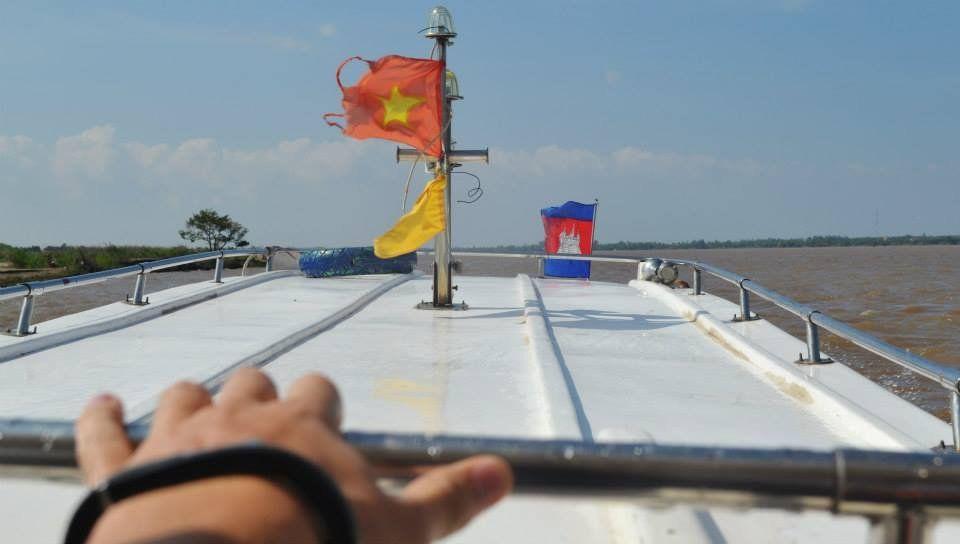 Boat ride into Cambodia