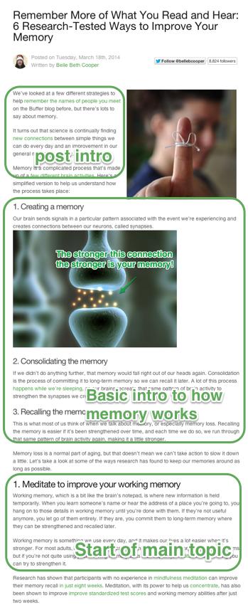 memory post