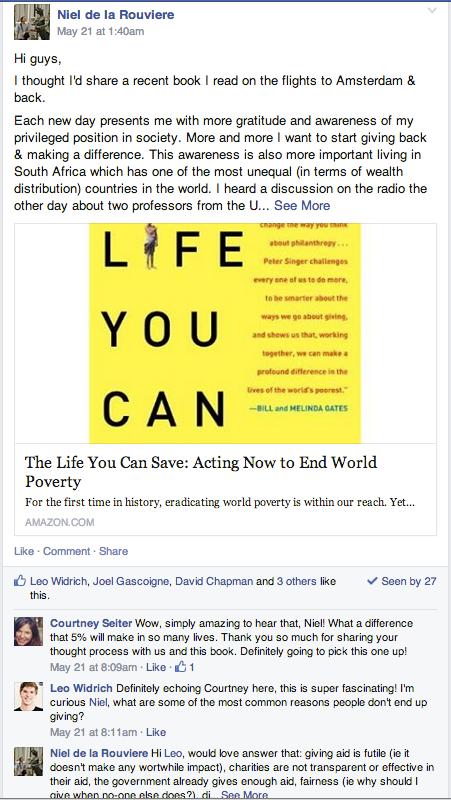 Facebook book discussion