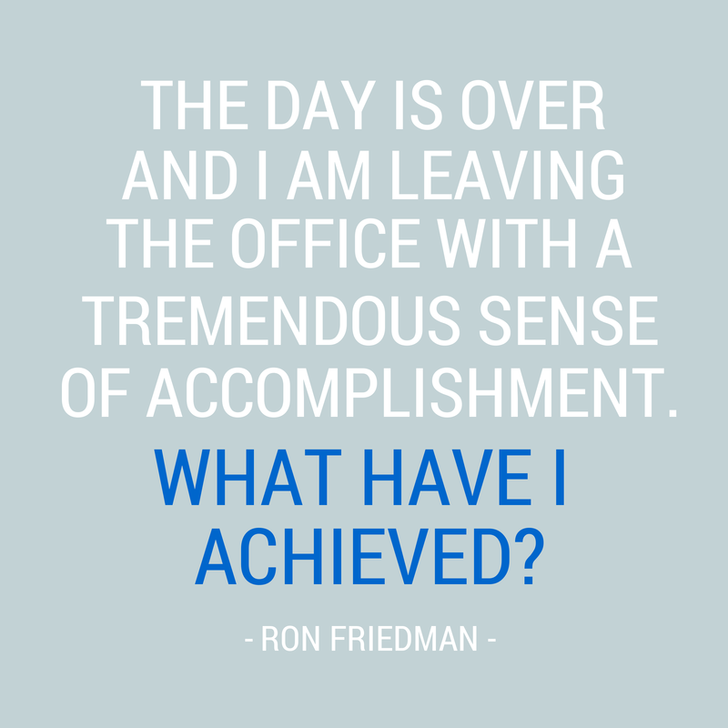 achievement quote robert friedman