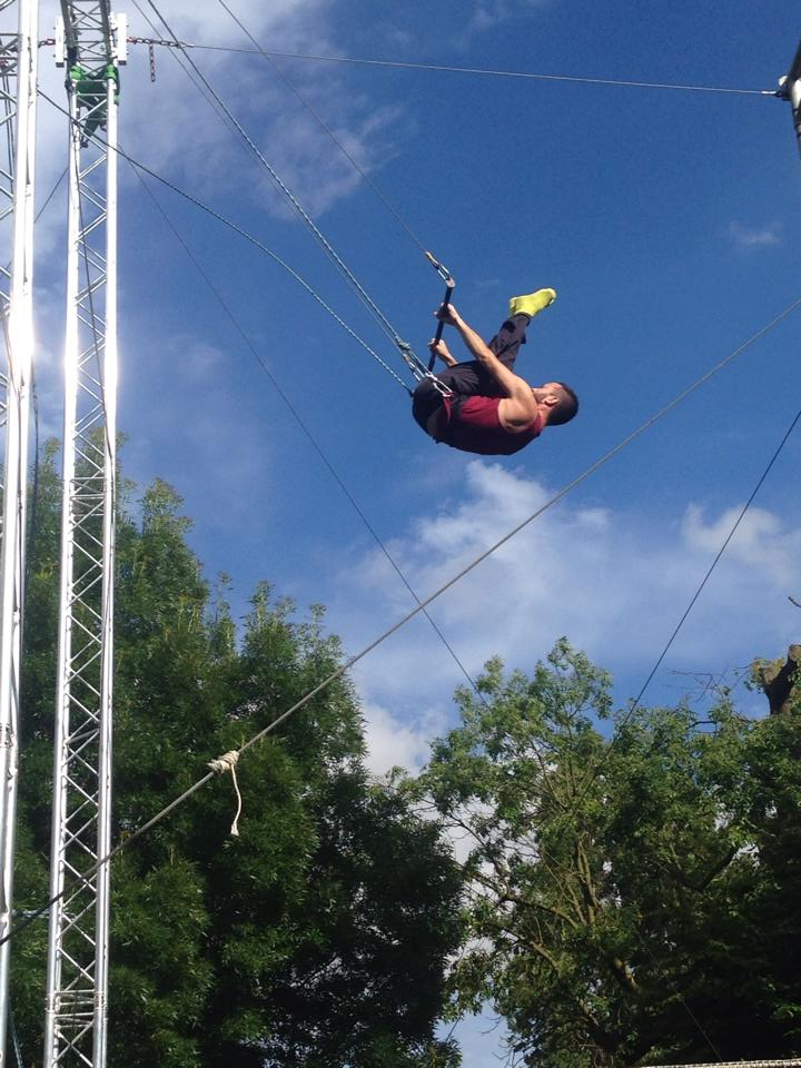 Dave on trapeze