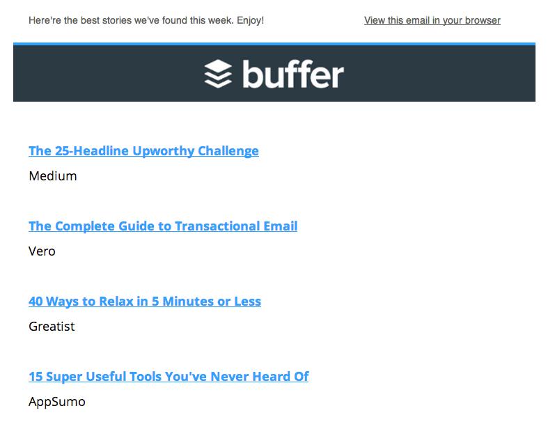 links roundup newsletter