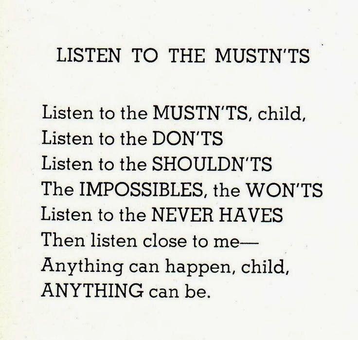 She Silverstein listen to the mustn'ts