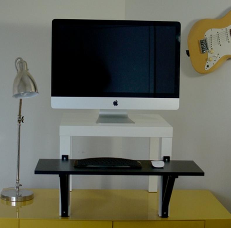 ikea standing workstation computer