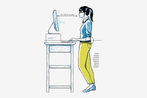 Wired magazine stand desk