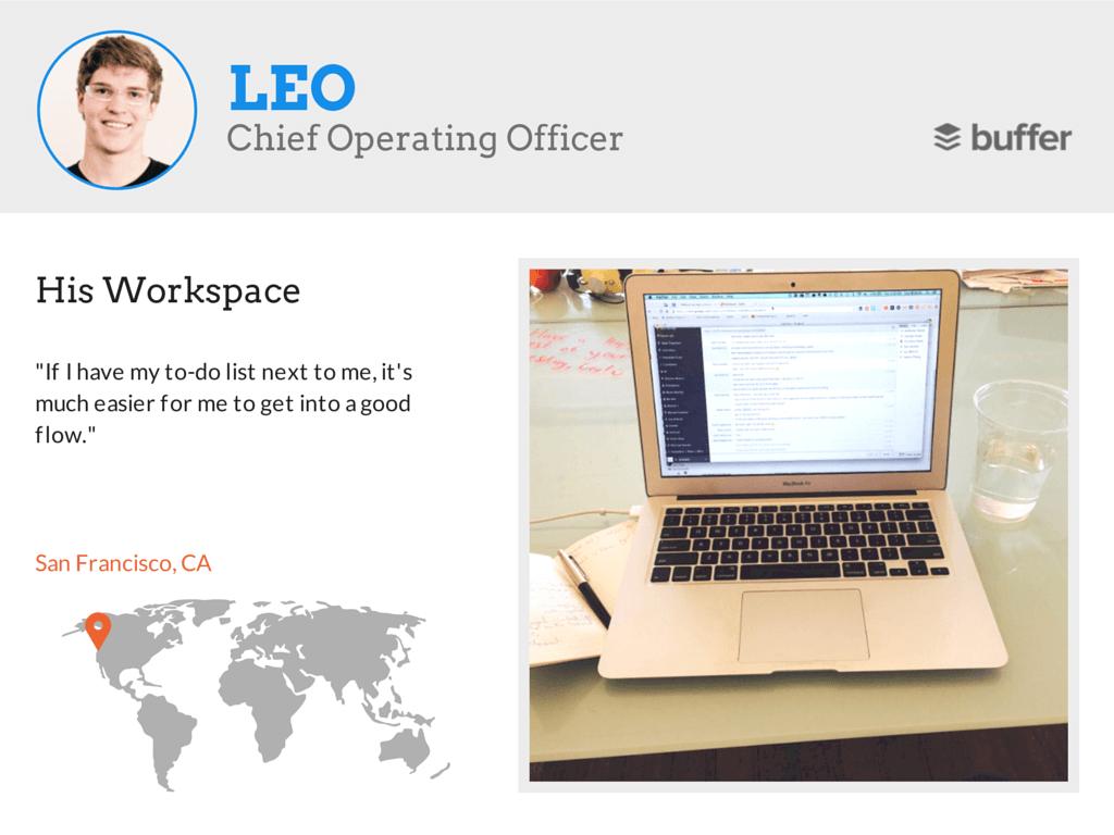 4 Leo workspace