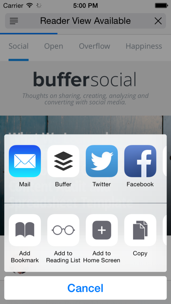 Buffer for iPhone