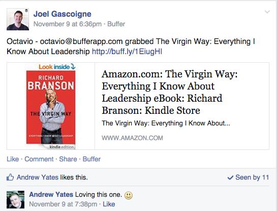 Facebook group books