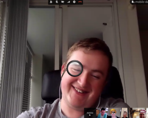 Goofing off in a Hangout