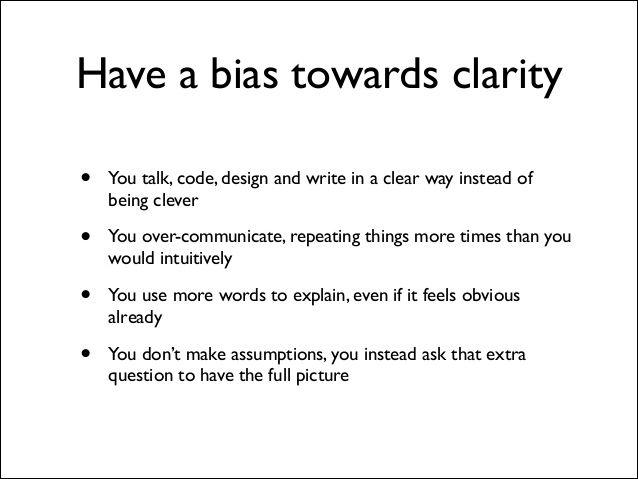 Buffer value 6: clarity