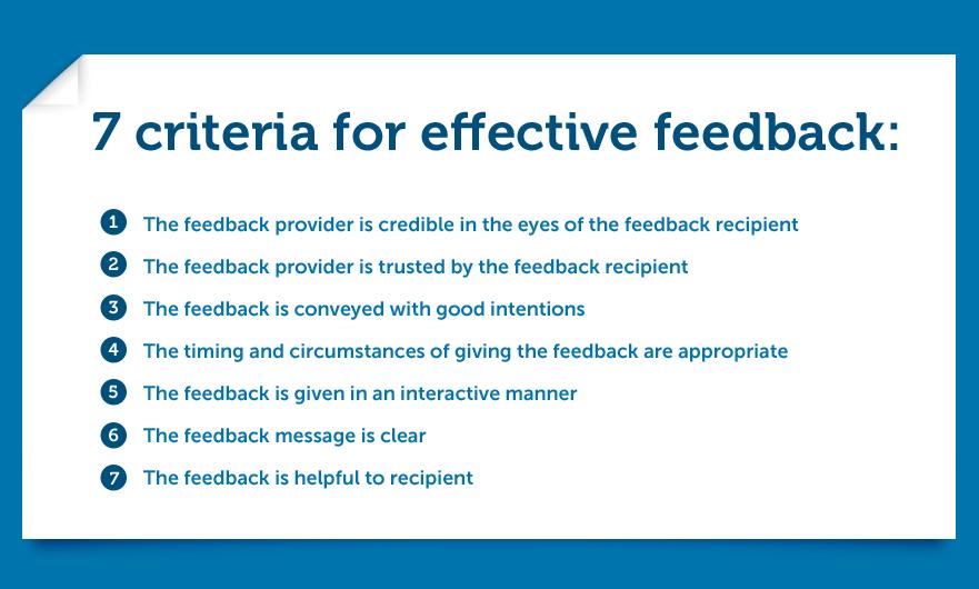 criteria for effective feedback