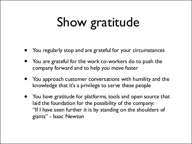 Buffer value 9: gratitude