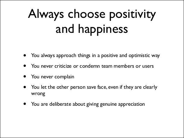 Buffer value 1: positivity