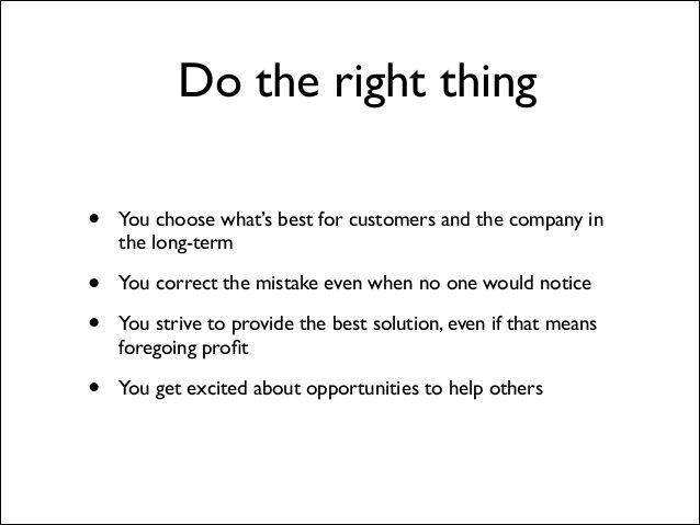 Buffer value 10: Do the right thing