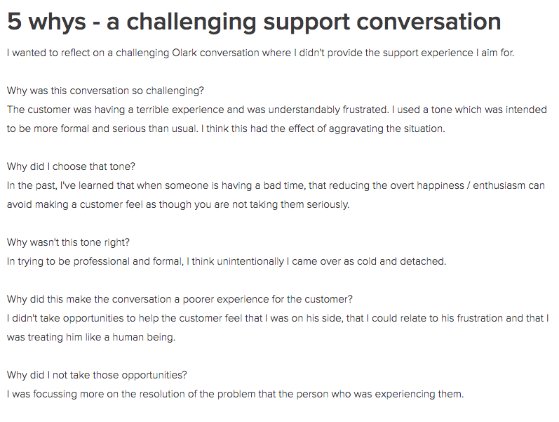 5 whys support