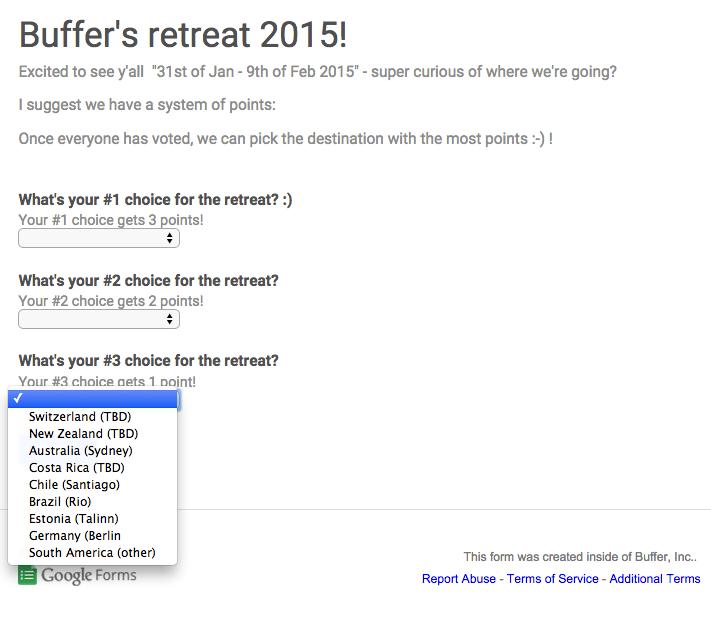 retreat vote