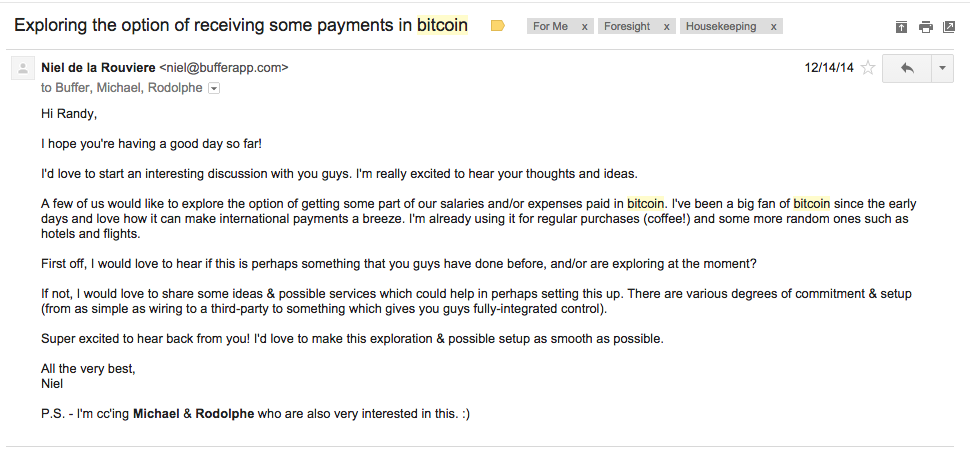 bitcoin email inquiry