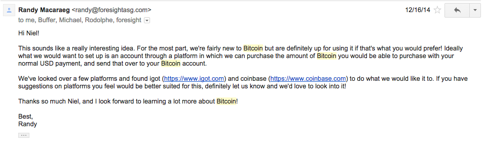 bitcoin email reply
