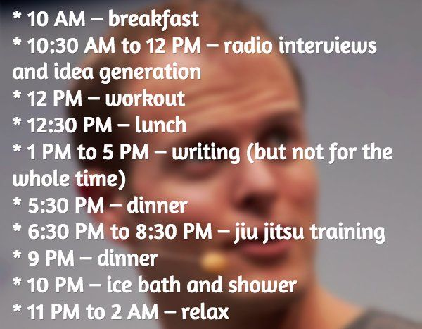 A day in the life of Tim Ferriss