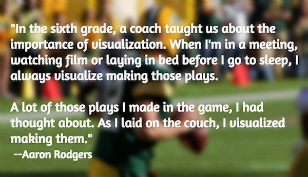 Aaron Rodgers on visualization