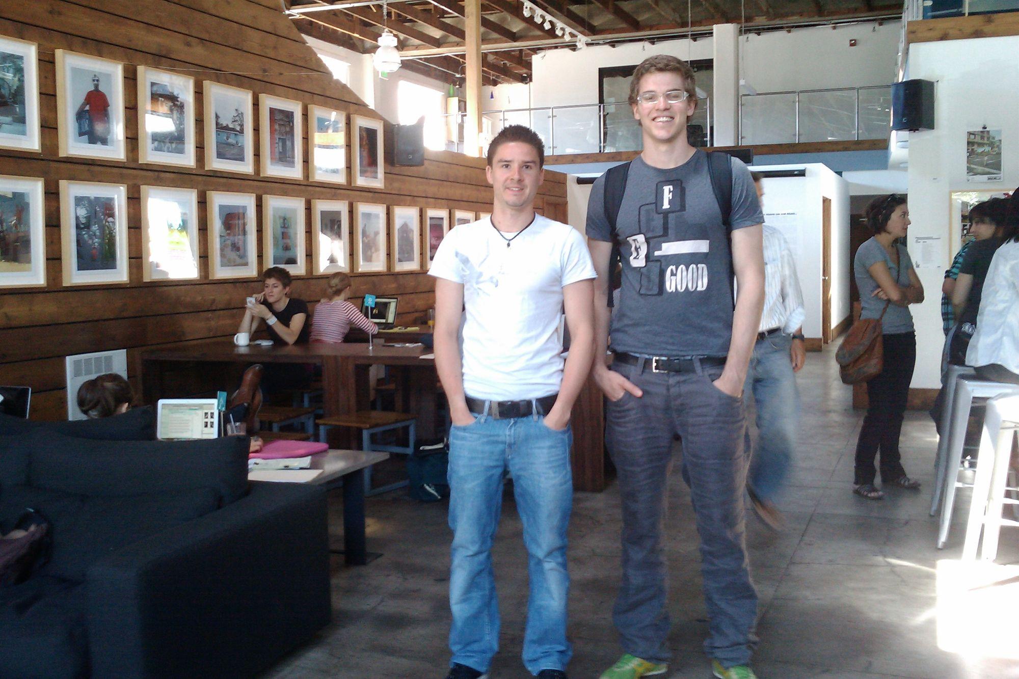 Joel and Leo in San Fran