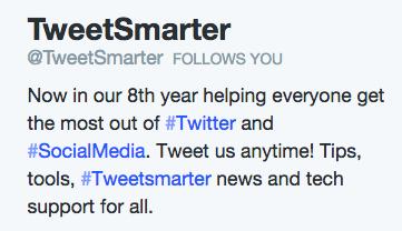 TweetSmarter bio