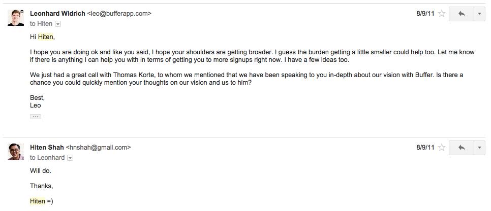 email to thomas