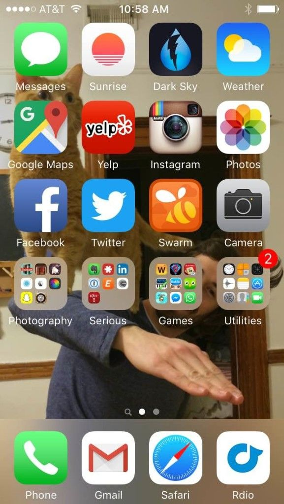 Amy's homescreen