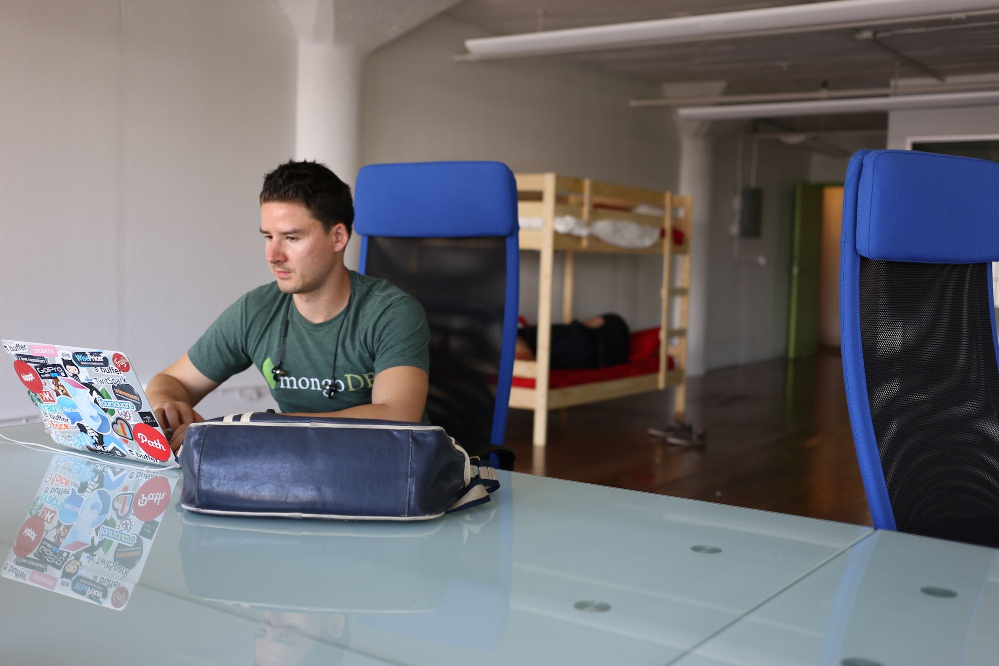 Joel in old office