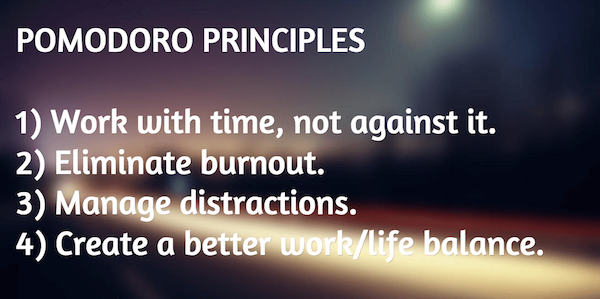 Pomodoro Principles