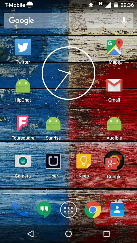 Rodolphe's homescreen