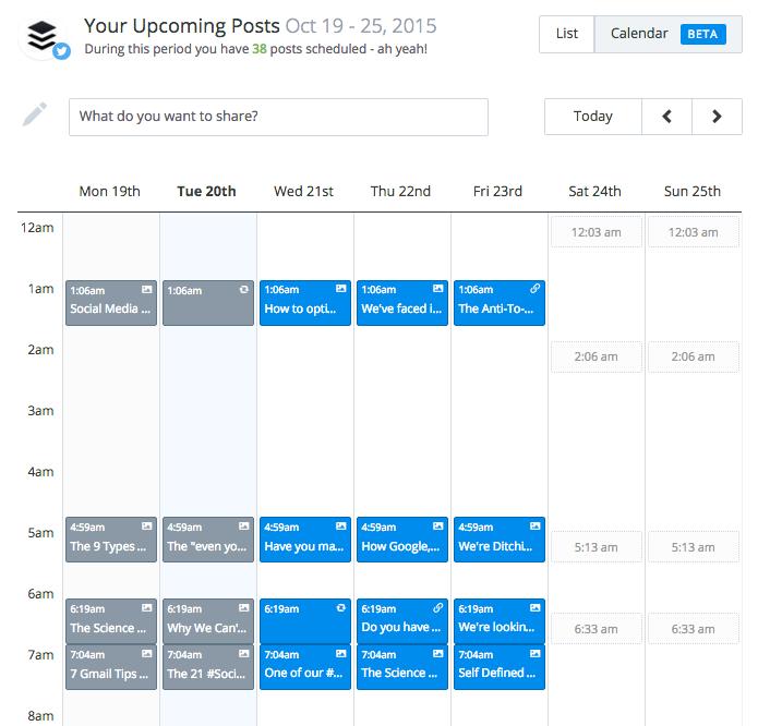 calendar view beta