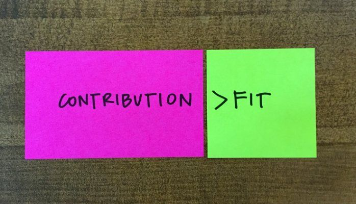 contribution vs. fit