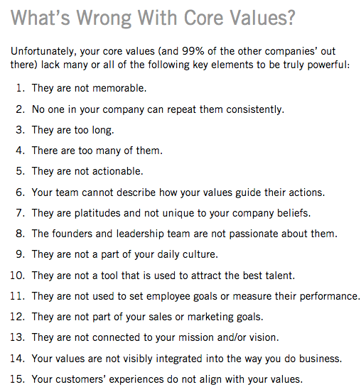 core values issues