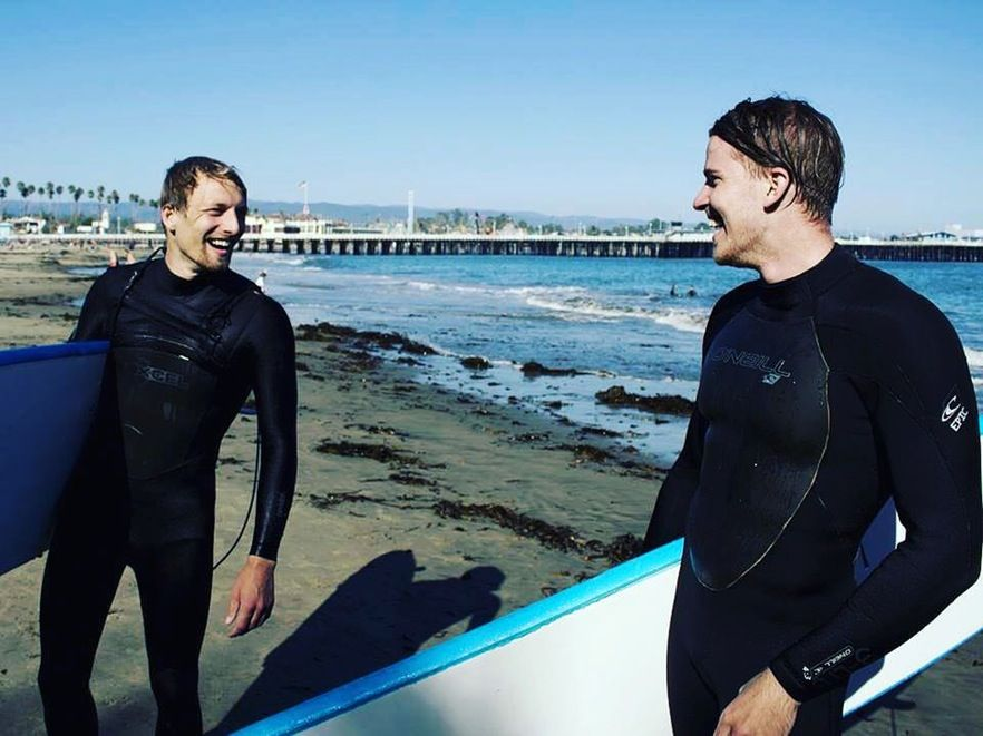 "Leo: ""Leo: Was so excited to get to spend some time with my family this year for vacation in France and also for spending some time in Santa Cruz learning to surf."""