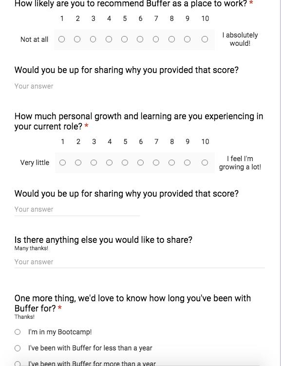 internal NPS survey