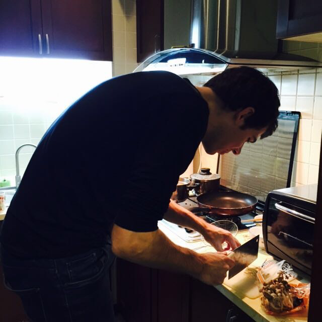 Tim cooking