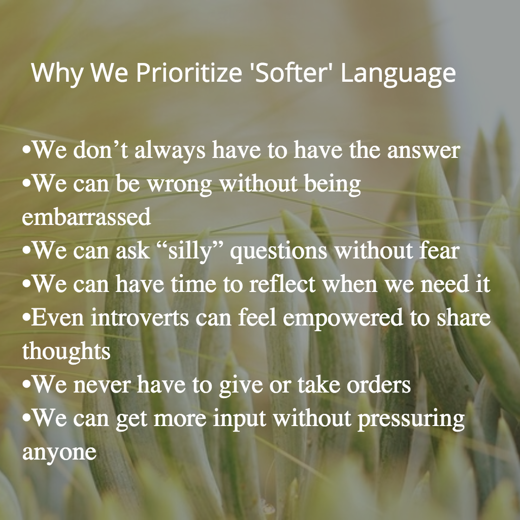 benefits of softer language