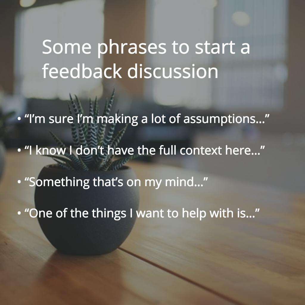 feedback phrases
