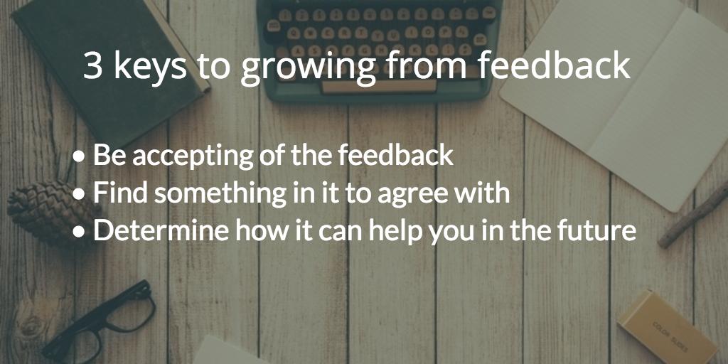 keys of receiving feedback