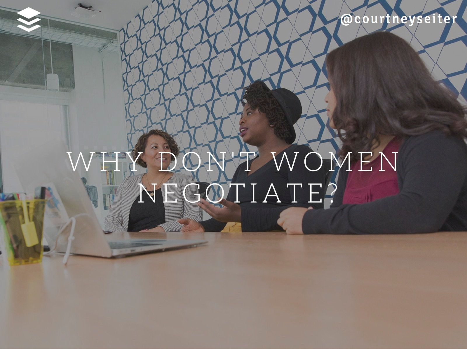 why don't women negotiate