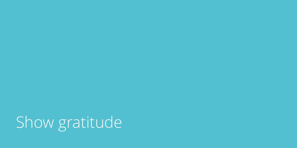 show-gratitude