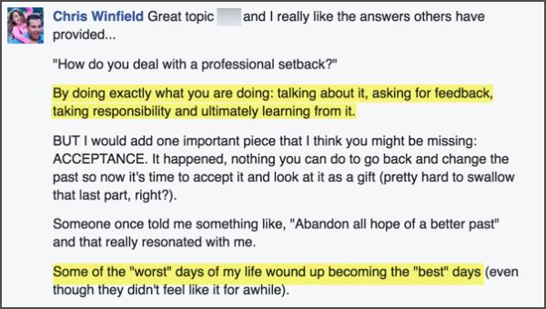 fb answer setbacks