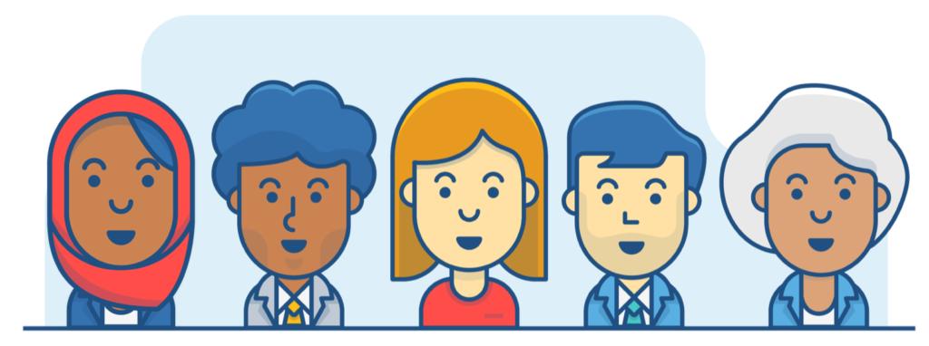 diverse illustrations at Atlassian
