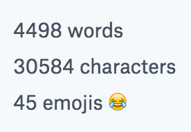 Dropbox Paper words and emoji