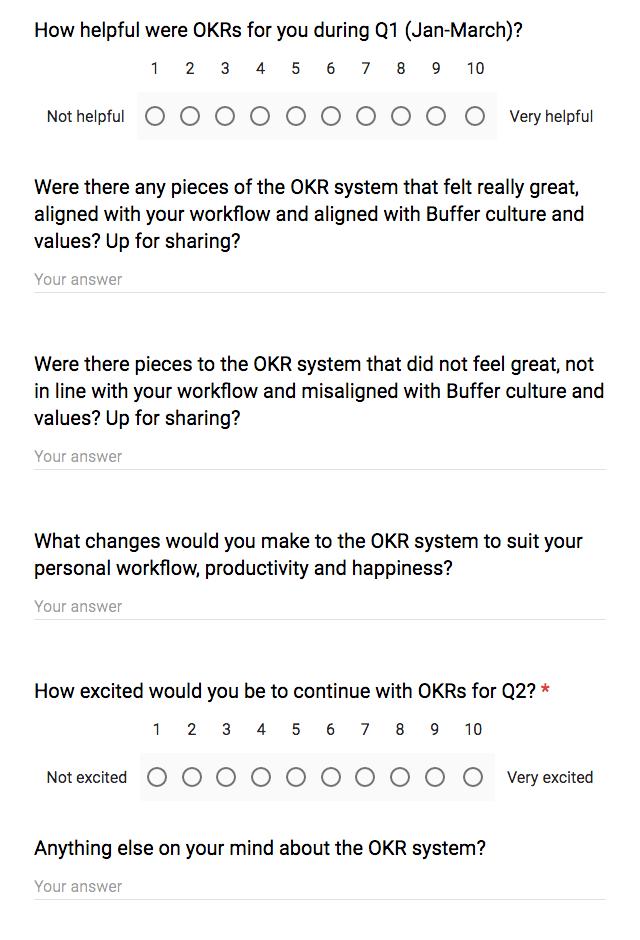OKRs survey